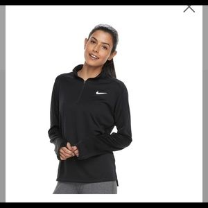 Black Nike pull over with thumb holes